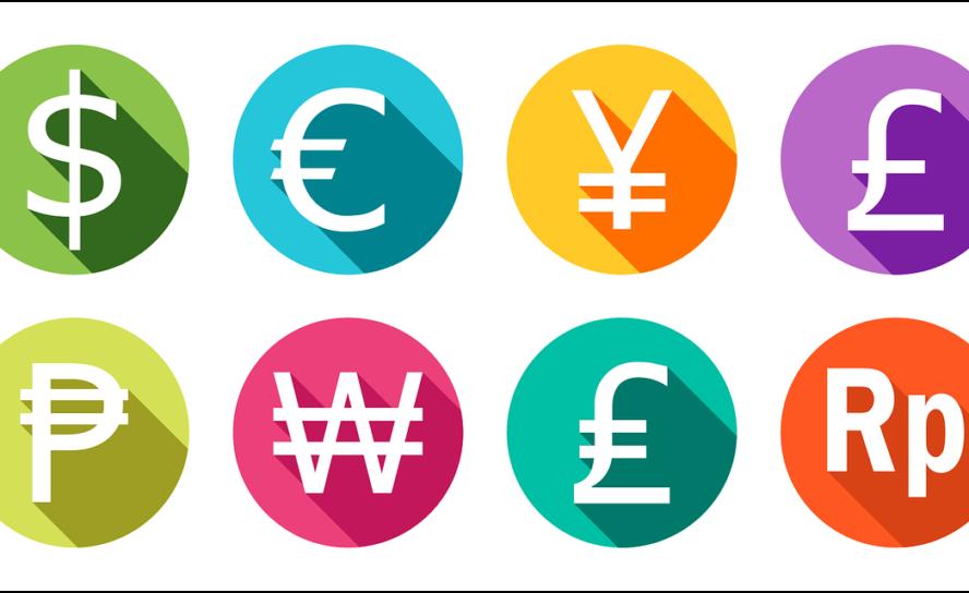 Finanzielle Konzepte durch flaches Design